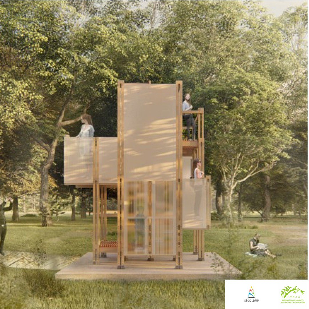 "The ""Machine of Bamboo"" design from @NanjingUnivers1 students includes two types of sunshine board which ""create fantastic light and shade while beautifying the façades. Make sure to visit the #BeijingExpo in July to see it!#GreeningConstruction🏗️#ThinkBamboo🎍(2/2)"