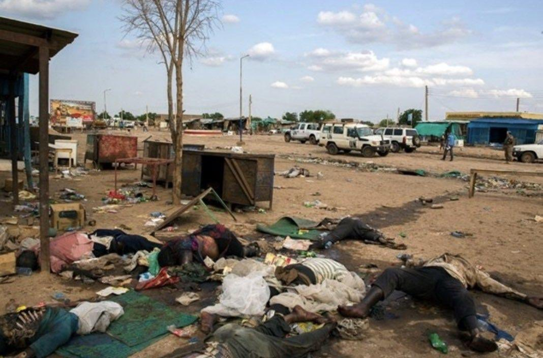 Please pray for sudan. God bless Sudan. Where are world powers now? Why thay are silent   #SudanMassacre <br>http://pic.twitter.com/5jlYNNWIYo