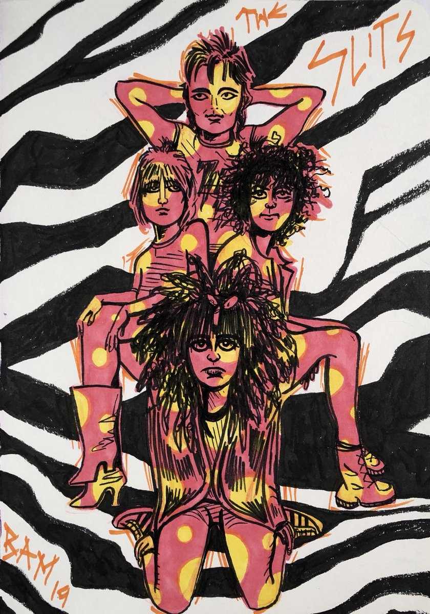 """THE SLITSTypical Girls are looking for something Typical Girls fall under spells Typical Girls buy magazines  Typical Girls feel like HELL """"Here to be Heard: The Story of The Slits"""" - SEE IT! #barbieamillerart #barbieamiller #theslits #womenofpunk pic.twitter.com/slt0WJJVE4"""