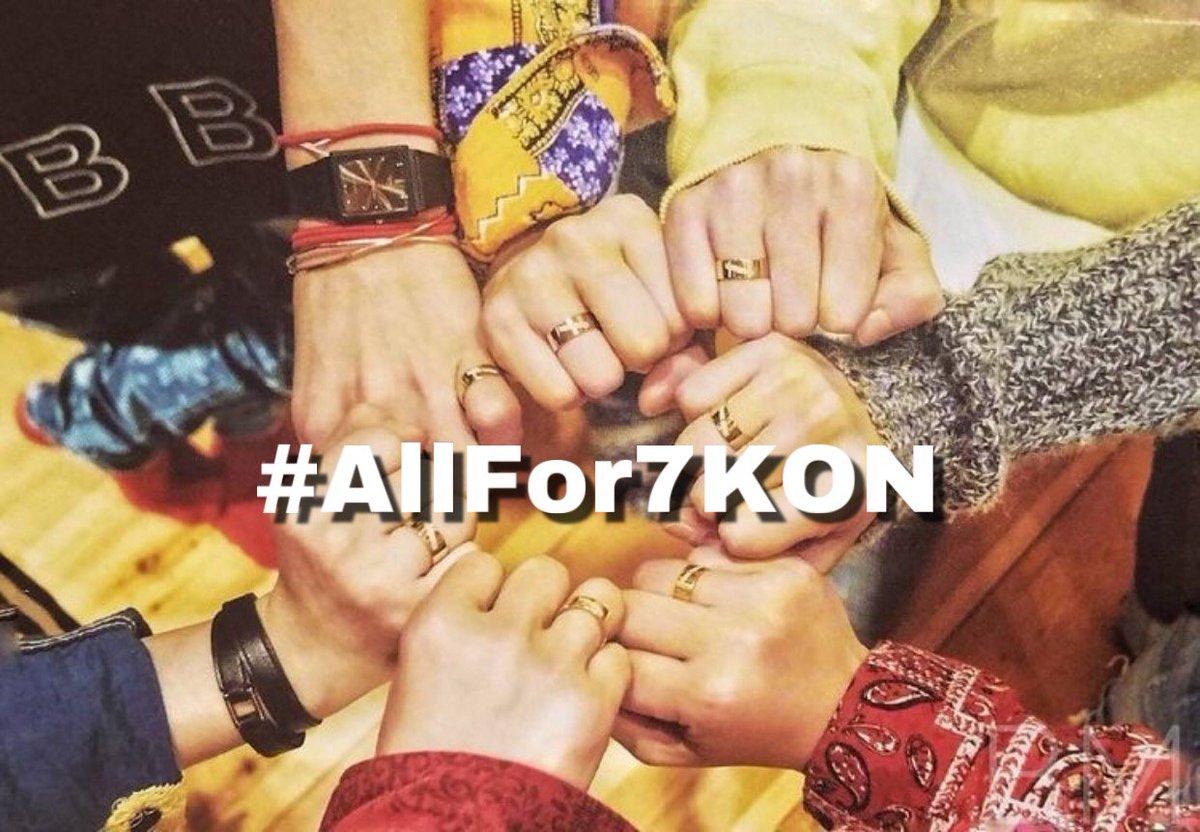 Are you #Allfor7KON ? Coz WE ARE. Pass it on. @YG_iKONIC @ikon_shxxbi @bobbyranika @iKON_gnani_____ @sssong6823 @tkwpcnfak @D_dong_ii @iKON_chan_w000