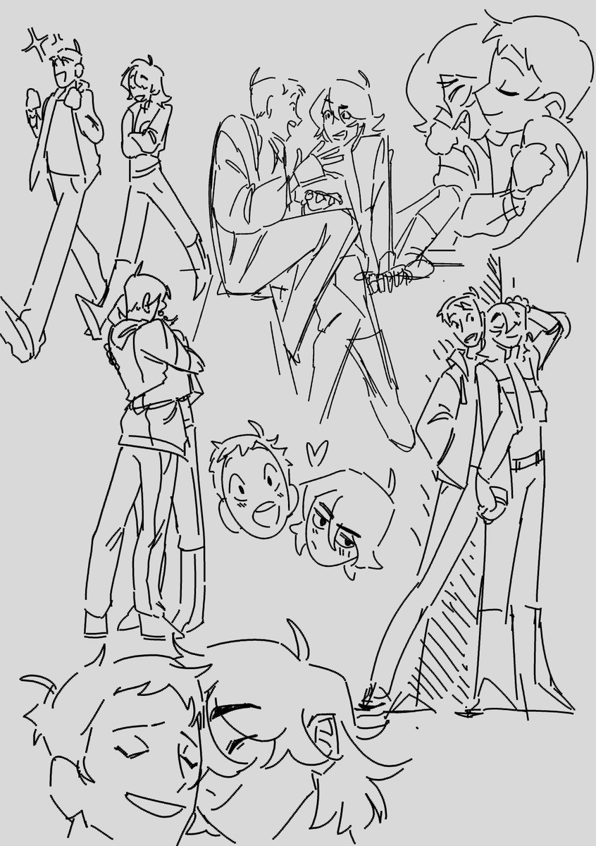 thumbnailing out stuff for later when im set free from finals,, they'll be individual drawings later but for now im piling them here #klance<br>http://pic.twitter.com/Q9DNQscLOs