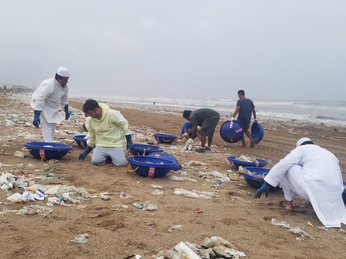 Week 191 .  Marine species do not   -  Wear clothes -  brush their teeth -  drink milk or tea or eat biscuits -  shampoo   So no   - detergent powder - tooth paste - milk pouches - shampoo sachets  Why Humans are forcing them to adopt our habits.  Versova beach cleanup - today.