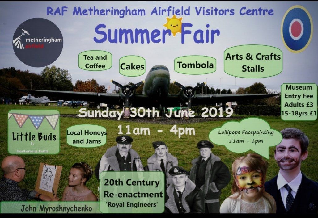 Want to help with funds towards the restoration of a Dakota? Check out this summer fair at @RafMetheringham On June 30th. All proceeds to their Dakota restoration. Just awaiting confirmation the Dak will be OPEN to have a look around! #daksoverduxford  #daksovernormandy  #DDay75