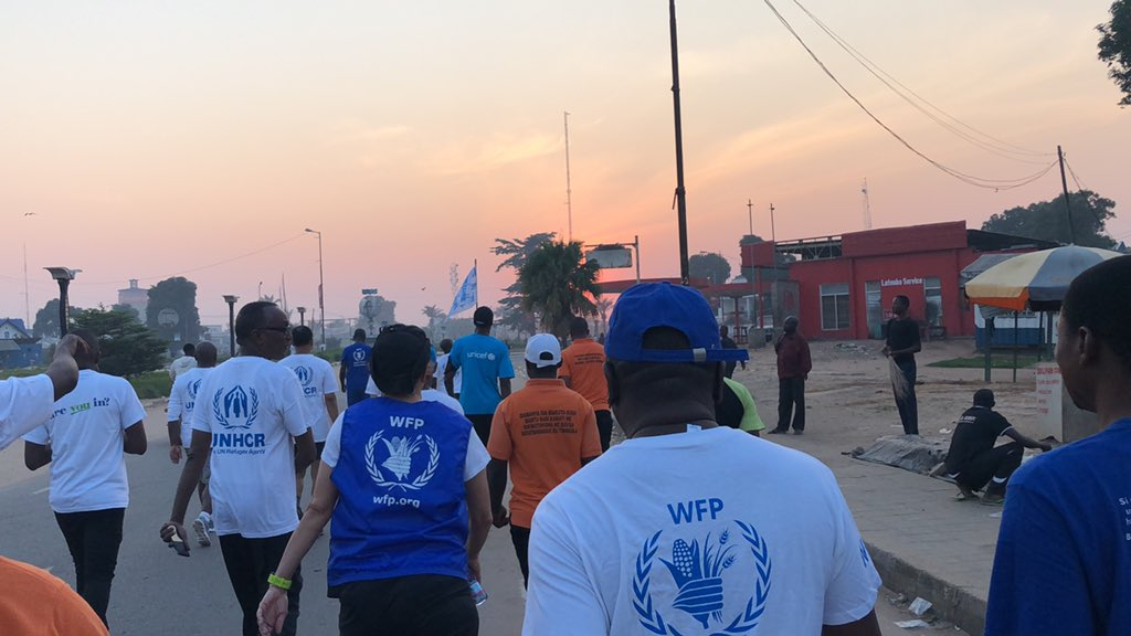 Taking steps #WithRefugees and making it counts on https://stepwithrefugees.org/ thank you 🙏 to dozens of colleagues and partners who joined us this morning in #Kananga