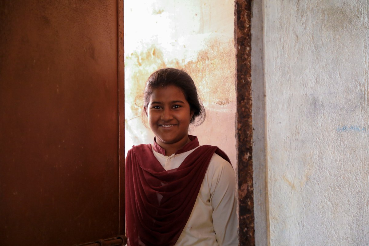 When a school has toilets for girls and boys, it allows them to be more regular to school and have a better #education. #ForEveryChild, hygiene. v/@unicefindia