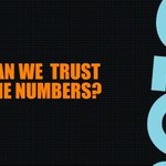 Image for the Tweet beginning: Can we trust the numbers?