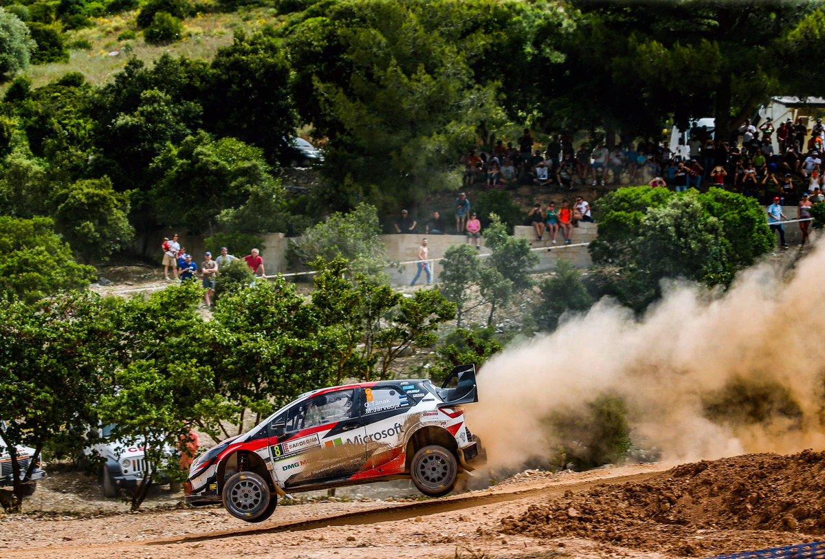 SS11 Monti Di Ala' 1: STAGE WIN! 🥇  1️⃣ TÄNAK 16:58.3 2️⃣ Sordo +2.1 3️⃣ Suninen +8.2 4⃣ Mikkelsen +18.7 5⃣ Evans +19.8  #RallyItaly #GoOtt #WRC