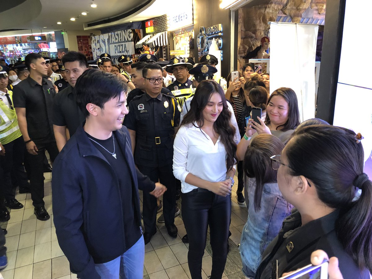 .@bernardokath and @aldenrichards02 arrive at @abscbnstudioxp with cacai bautista for the #HLGTheFirstHello #HelloLoveGoodbyePoster