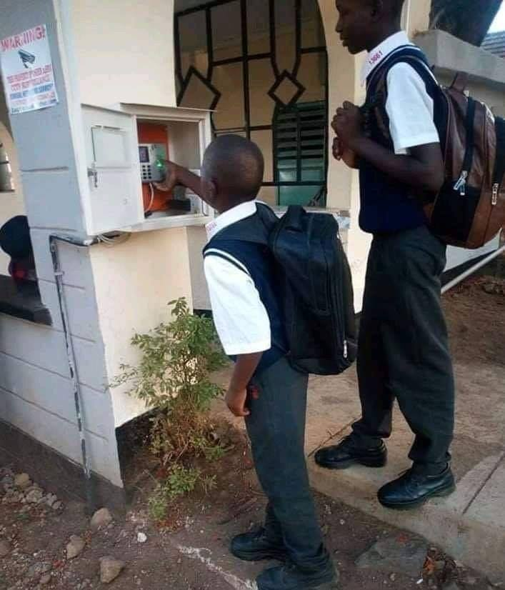 "Arch. Martin Tairo on Twitter: ""Students of Homa Bay High School clocking in  and out of school. Parents are then notified by SMS of their entry and exit  immediately it happens.… https://t.co/pdDtQ81shd"""