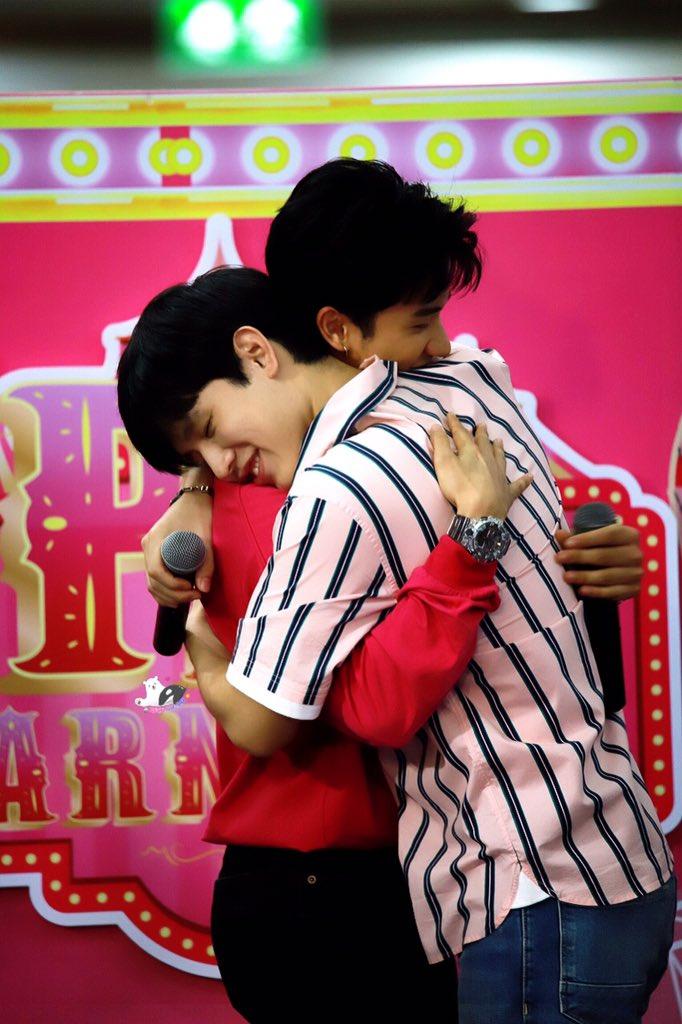 When I saw TayNew Hug each other!!!! <br>http://pic.twitter.com/XeGchgxGYd