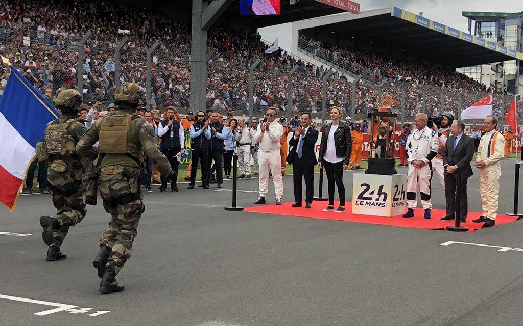 Superbe cérémonie de départ des @24heuresdumans 2019 avec le départ donné par SAS la Princesse Charlène de Monaco 🇲🇨