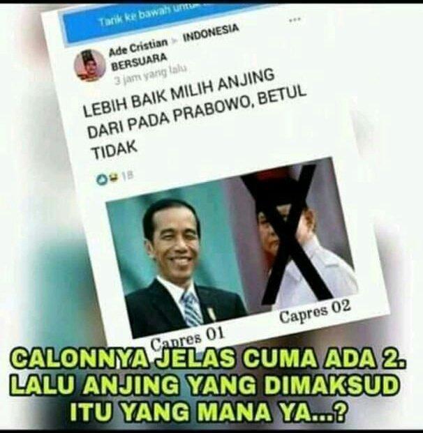 @AsepWitoko inikah... bukan aku lhooo yg gmg   karna ak lebih milih Prabowo ketimbang milih kodok.. 😅😅🤣🤣  #ProudOfPrabowo https://t.co/NdYbZ2aXdJ