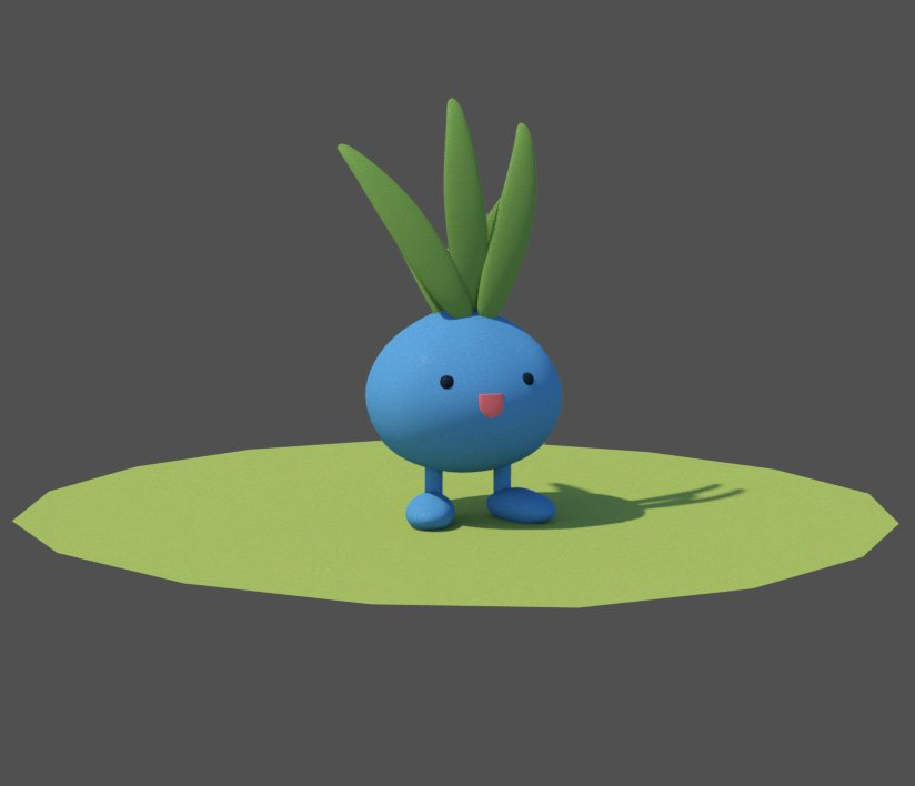 5 minutes modelling, 3 hours rendering 🙃 #ポケモン5分モデリング