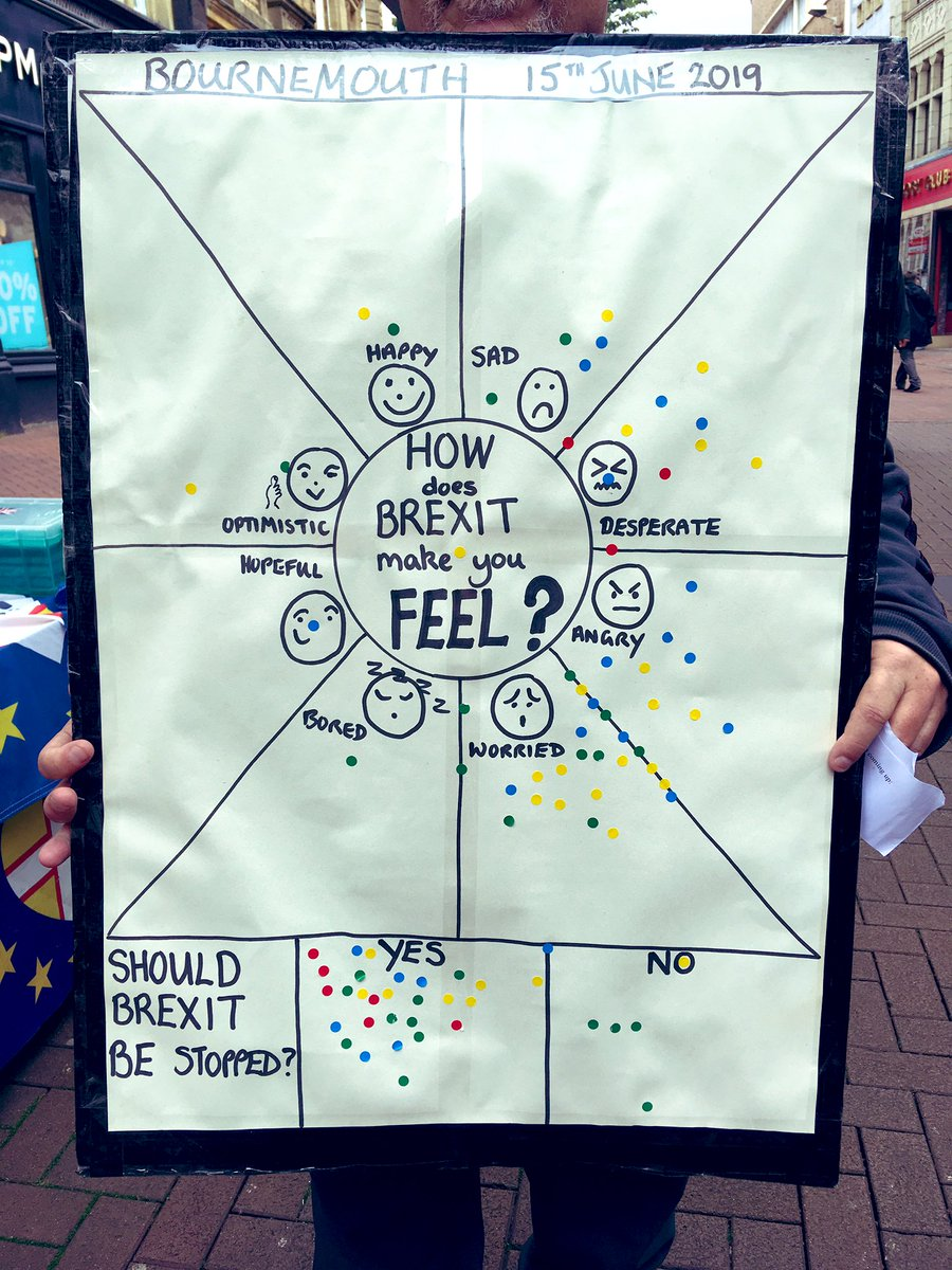 Worried and angry seemed to be the most common response this morning. Thanks to volunteers and participants alike. @BrexitBin @AtStalls @Tobias_Ellwood @oletwinofficial @newforesteurope @SotonForEurope @julesmchamish @MollyMEP @CarolineVoaden @MartinChelt @guyverhofstadt<br>http://pic.twitter.com/FhqxgYd3V8