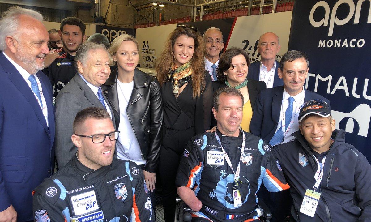 Bravo à Frédéric Sausset @flemans2016 et à sa filière @LaFiliereFS qui permettent aux personnes handicapées de vivre leur passion du sport automobile #LEMANS24 #WEC