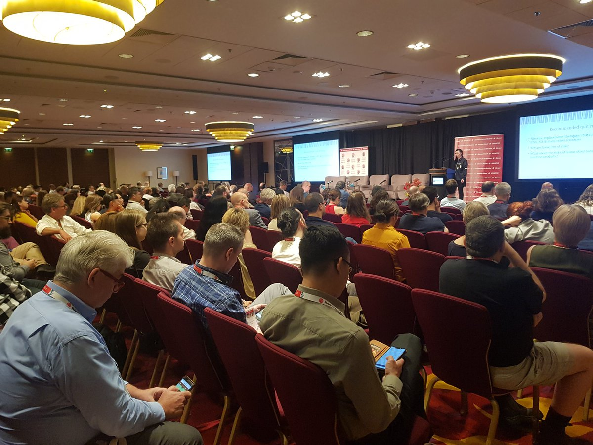 Packed room at #GFN19 listening to @MarewaGlover talking on nicotine and pregnancy. See also presenters' slides at http://gfn.net.co/programme