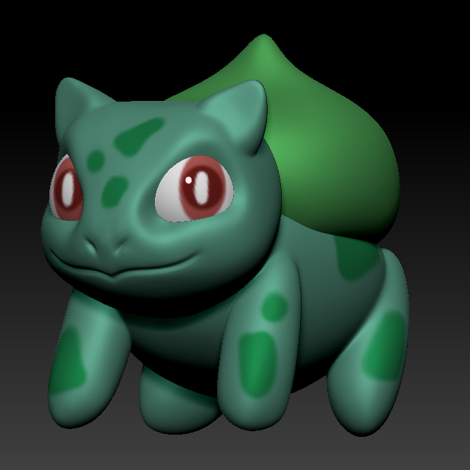 Gen 1 done! Took 5 min to model & 5 min to color. #ポケモン5分モデリング