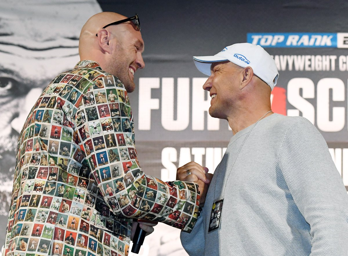 Smiles & laughter won't last long when Fury & Schwarz finally fightBy @bigdaddybunce https://ind.pn/2WDApOM