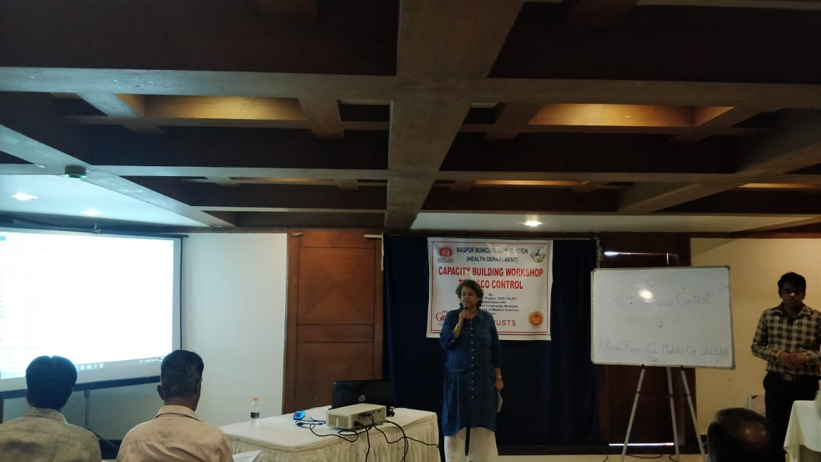 Nagpur Municipal Corporation in collaboration with Tata Trusts organised a one day capacity building workshop on tobacco control for all the health officials of UPHC. The workshop was conducted by the professors of Department of Community Medicines, AIIMS, Nagpur.