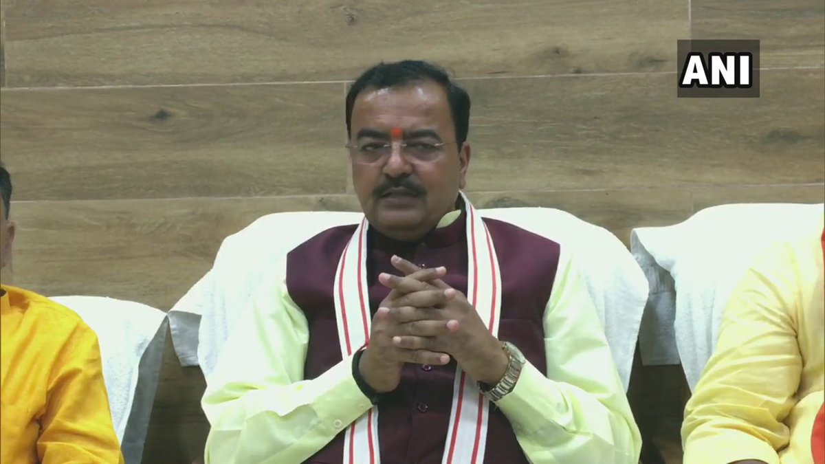 Dy CM of UP,KP Maurya on being asked 'if Shiv Sena is trying to snatch Ram temple issue from BJP':All who wish to visit pilgrimage sites are welcome,it's not a political matter but matter of faith.Have full faith,as per hopes of devotees&saints Ram temple will be constructed soon