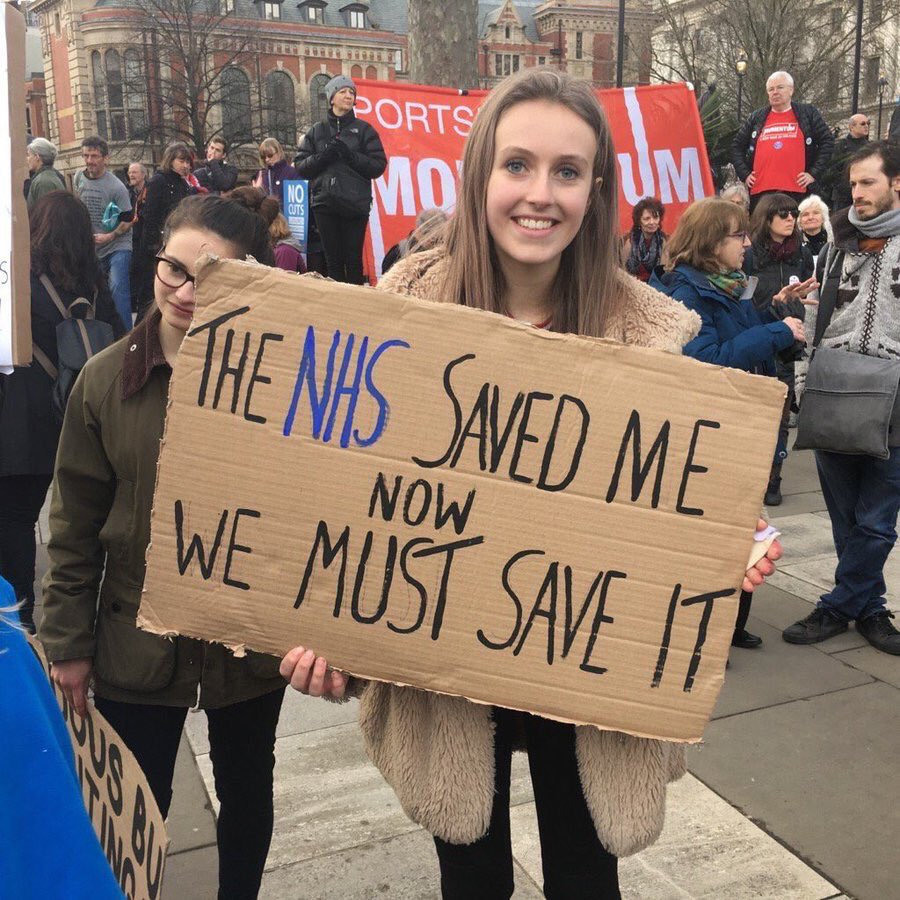 If everyone who has ever been grateful for the NHS followed and retweeted we'd reach a million by midnight. We'd also love to hear your reasons why with the hashtag #NHSMillion