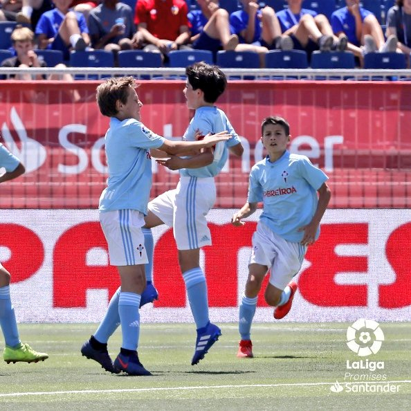 Los jugadores el Celta celebrando un gol (Foto: LaLiga).