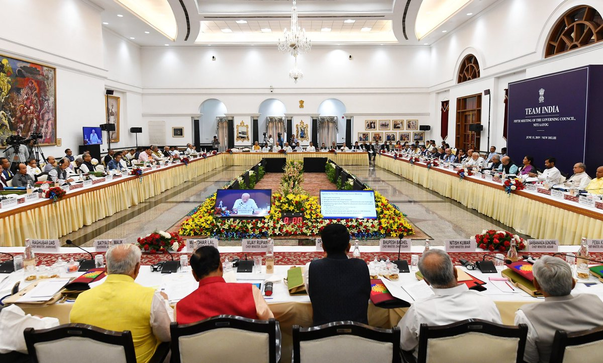 PM's opening remark in NITI Aayog meet: Making India a 5 trillion dollar economy, harnessing water resources, doubling income of farmers