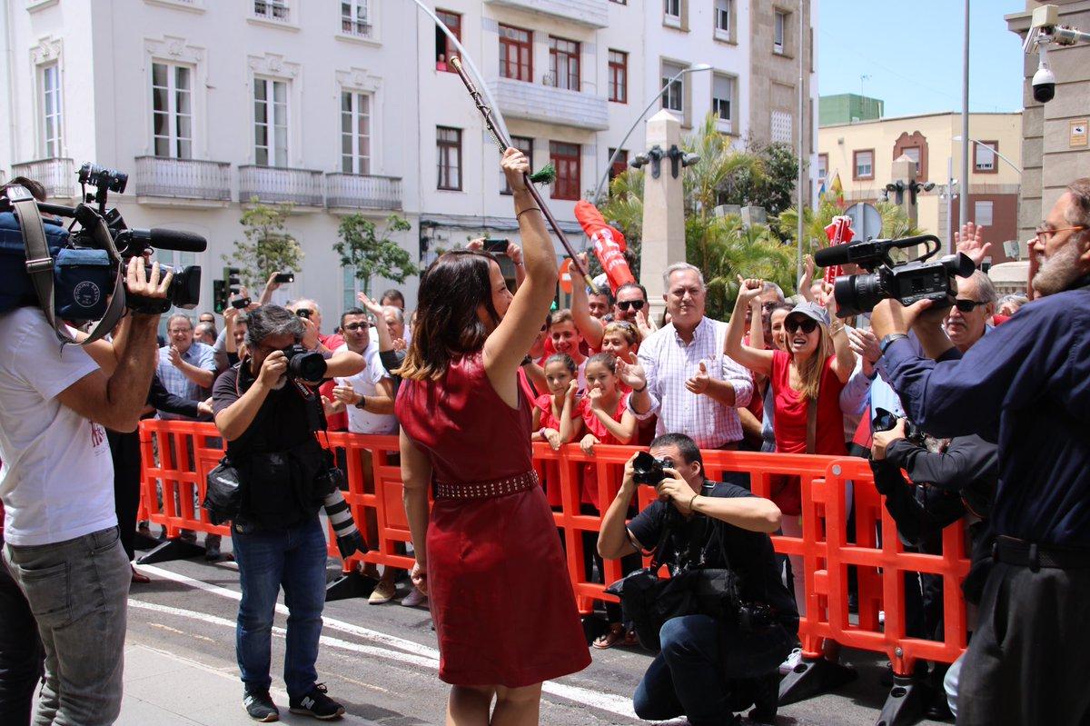 La alcaldesa de Santa Cruz de Tenerife, se sumó este fin de semana a la quinta edición de la Acción Global Ciudadana CONviveTACO