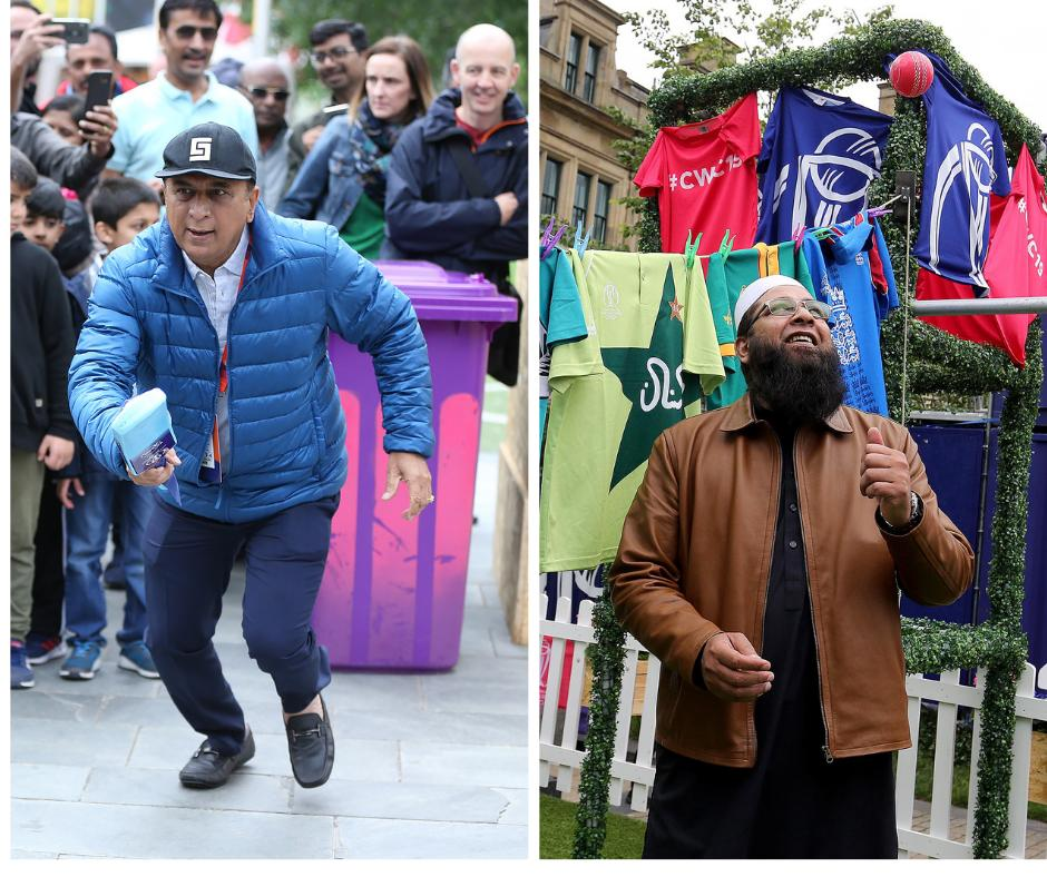 Two genuine legends of the game enjoyed themselves in the Manchester Fanzone in Cathedral Gardens earlier today.It'll be open tomorrow during #INDvPAK, too.