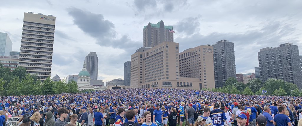 Um, yeah. This is our city. #stlblues
