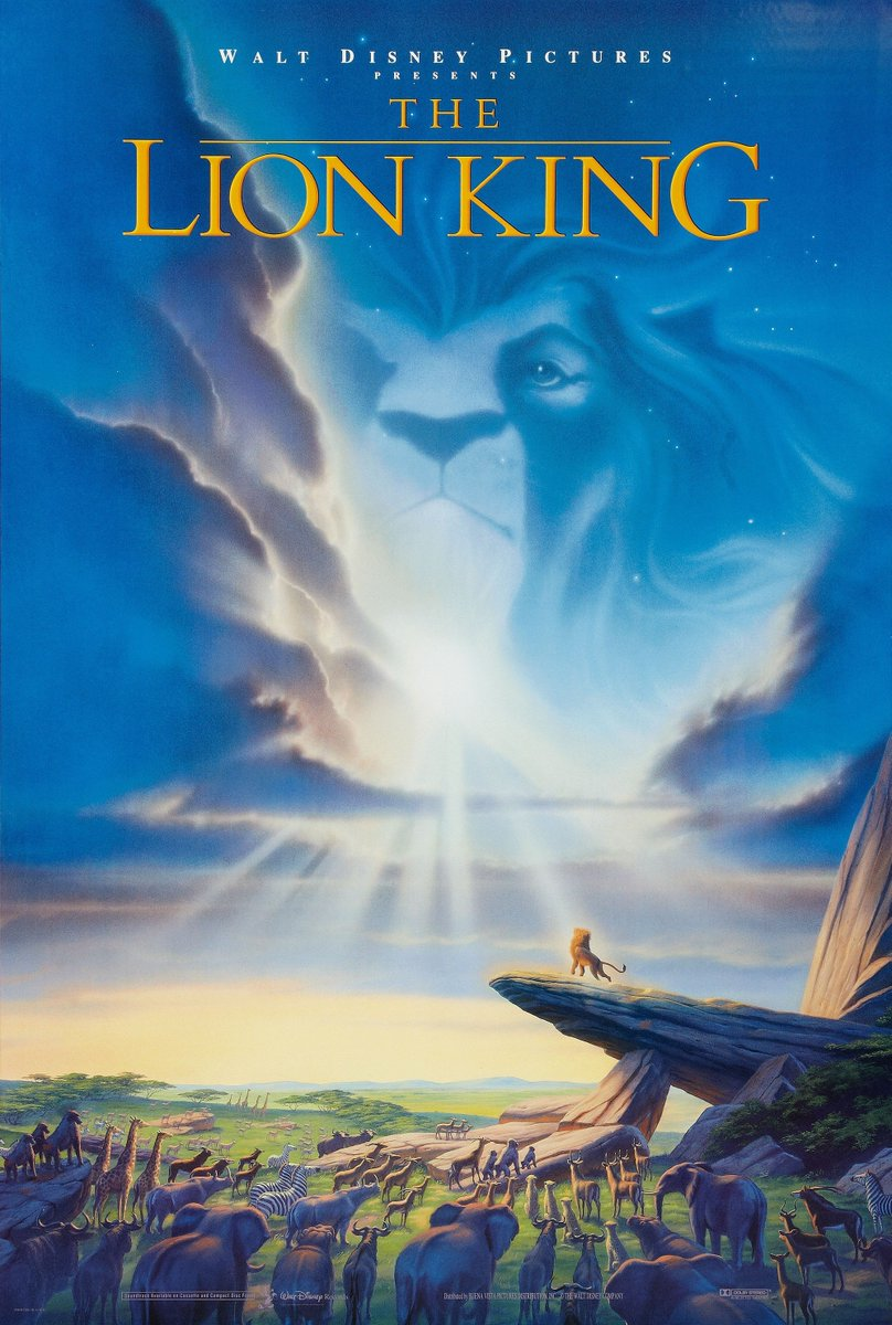 June 15/1994 - The animated movie The Lion King is released. Starred: Matthew Broderick, Jonathan Taylor Thomas, Jeremy Irons, James Earl Jones, Moira Kelly, Nathan Lane, Rowan Atkinson, Whoopi Goldberg & Cheech Marin. https://t.co/f71BWqRykS