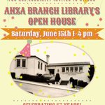 Image for the Tweet beginning: TODAY 1-4, our #SFPLAnzaBranch Open