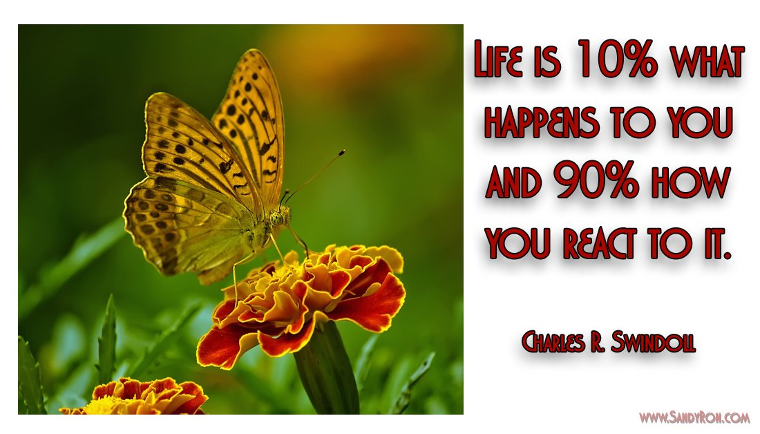 Life is 10% what happens to you and 90% how you react to it. #Motivationalquote #successquote<br>http://pic.twitter.com/BMVHwvqJBl