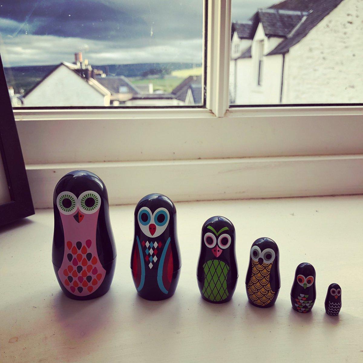 My little owl matryoshka dolls watching me edit. Thanks @lisadransfield 😊😊🦉
