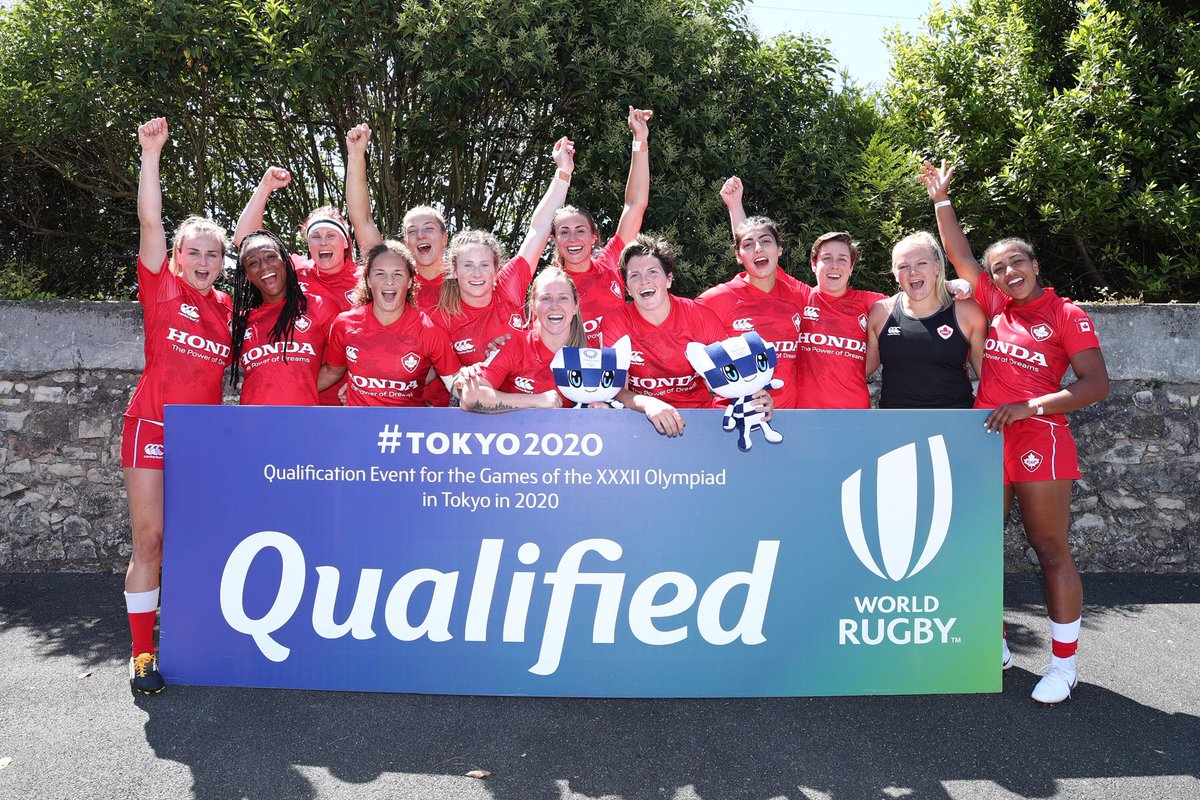 QUALIFIED!!!! Canada is officially heading to the Tokyo 2020 Olympic Games 🏉🍁 #<a target=