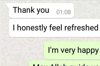 By Allah's tawfeeq and mercy a young mixrace woman accepted Islam after we've spoke to her over the phone my Allah keep her firm upon Islam and sunnah.Ameen. <br>http://pic.twitter.com/ycEtitV2Ts