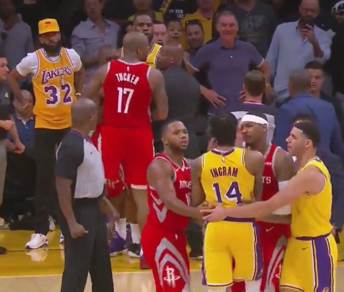 Don't forget the time Rondo punched CP3 in the eye and then Nipsey looked ready to jump in with the Magic jersey<br>http://pic.twitter.com/VxnZmKiohP