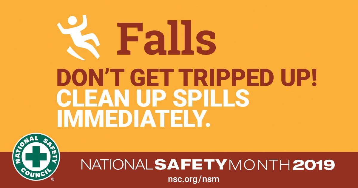 test Twitter Media - Slips, trips and falls are some of the most common hazards faced in the workplace & they can have serious consequences. Always following safety procedures is crucial to avoiding injury, but so is speaking up to keep your coworkers safe!  #NationalSafetyMonth #SafetySaturday #NSM https://t.co/dPFW9pDif0