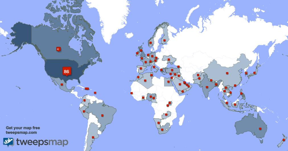 I have 25 new followers from USA 🇺🇸, India 🇮🇳, Australia 🇦🇺, and more last week. See tweepsmap.com/!SylviaEllison