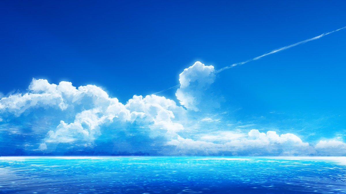 海と空は、もはや恋人かなってくらいお似合いだよねぇ