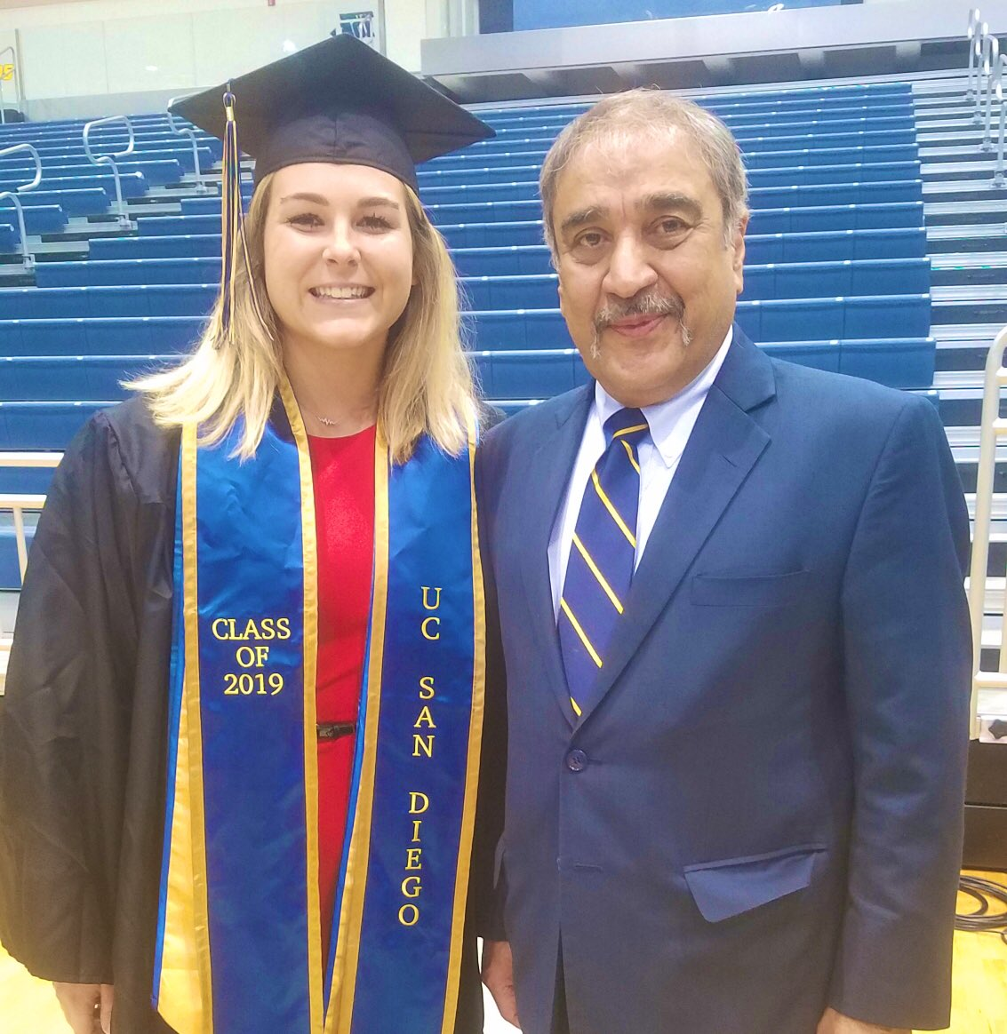 Behind the scenes prep with Chancellor Pradeep K. Khosla and this year's All Campus Commencement student speaker Michaela Jules #ucsd2019 #TritonGrad