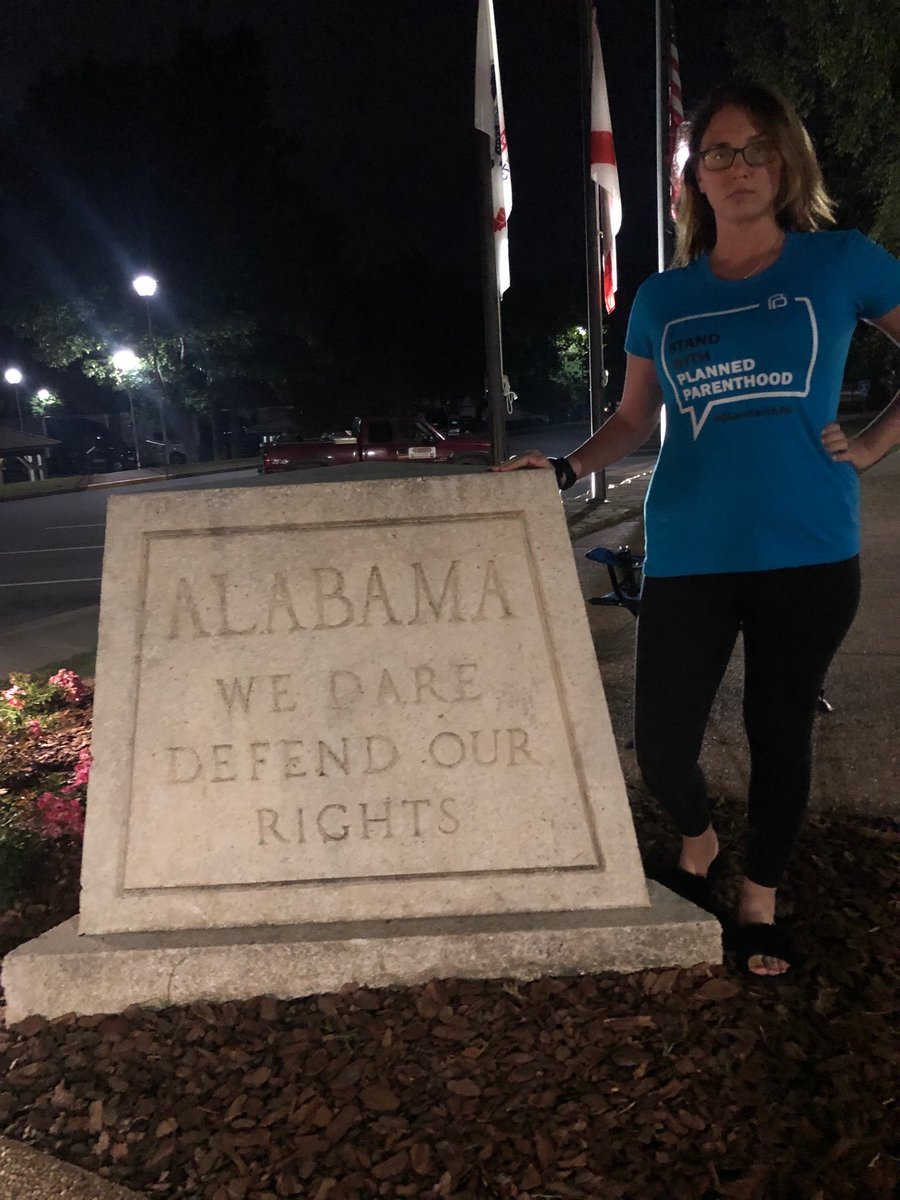 Alabama: We dare defend our rights.  Women: SO DO WE.   #PlannedParenthood #AbortionRights #abortionban #AbortionIsHealthcare #heartbeatbill #AlabamaAbortionBan #alabama #WomensRights #women<br>http://pic.twitter.com/R0in6GzkhH