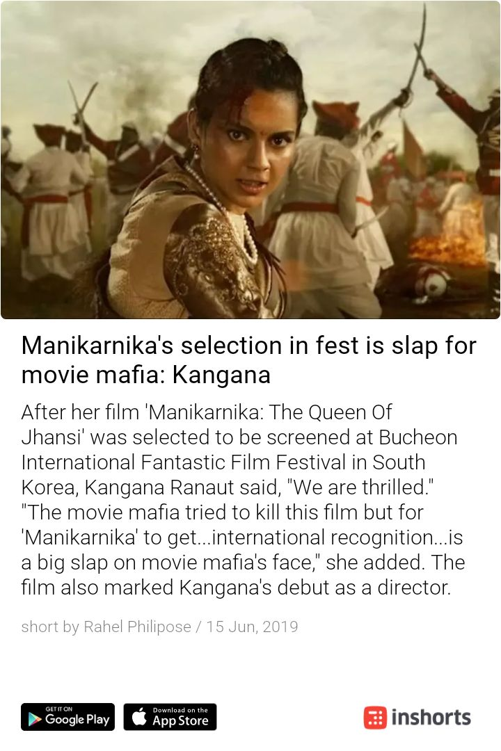 No second thoughts about the statement. This movie deserves it and more #KanganaRanaut #Manikarnika https://shrts.in/Vh4h