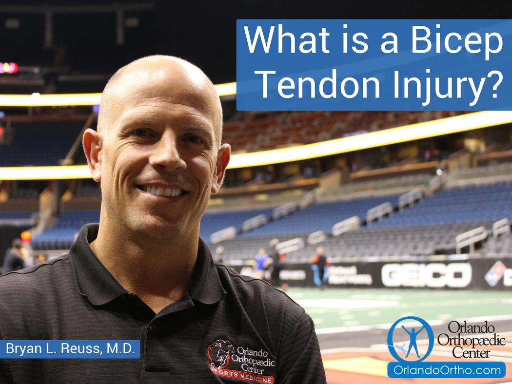 How is a biceps tear repaired? Watch as Bryan L. Reuss, M.D., shares his insights: https://www.orlandoortho.com/biceps-tendon-injury/…