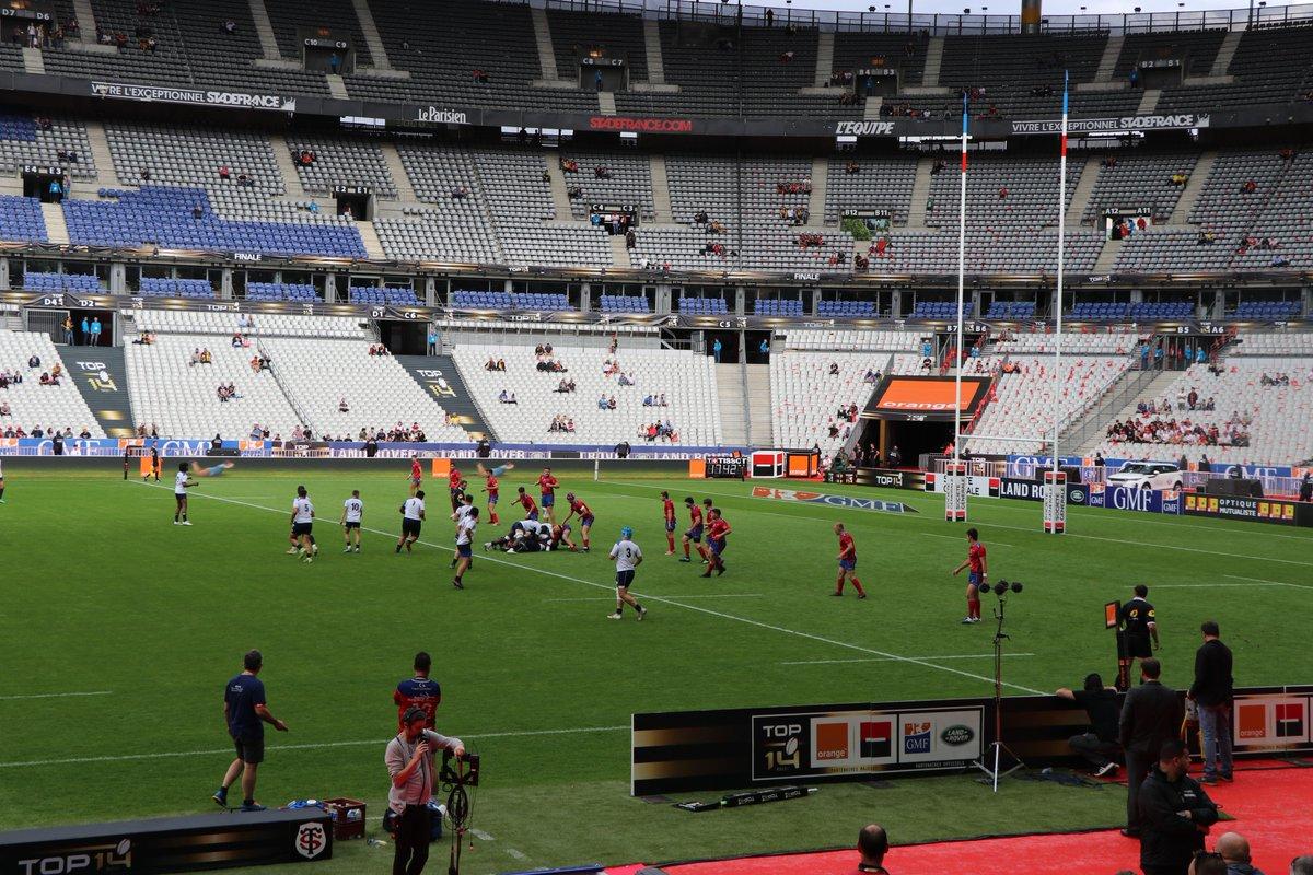#FinaleTOP14 En lever de rideau de la finale, @agen_rugby et @ASBHOfficiel s'affrontent en Finale Alamercery !