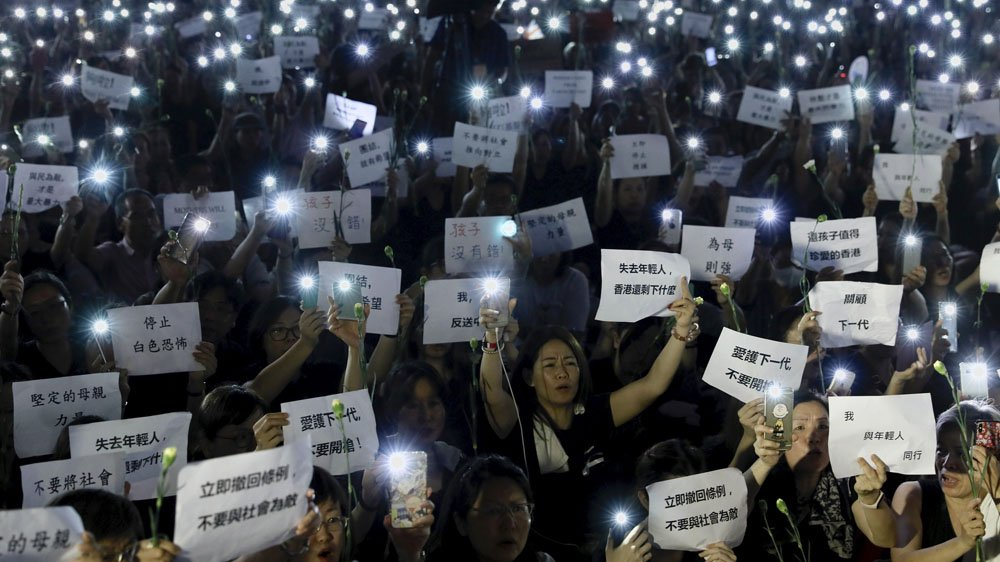 Hong Kong activists vow more protests saying  proposed #ExtraditionLaw must be shelved permanently https://aje.io/q5wg4