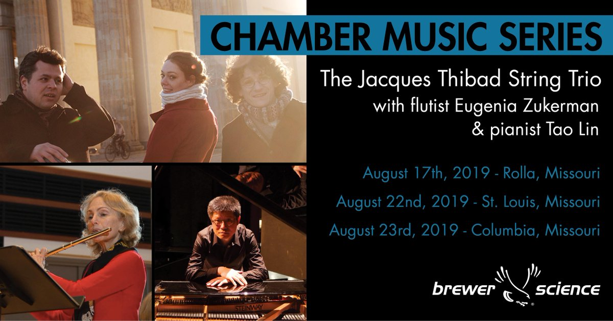 test Twitter Media - This will be the 20th year Brewer Science has invited the Jacques Thibaud String Trio to the Rolla area. To celebrate the occasion, the trio will perform 3 concerts in Missouri. (https://t.co/UzDH6tw30w)  Rolla concert tickets are now available (https://t.co/pn0ny9WA08) https://t.co/VXEmy5FJDf
