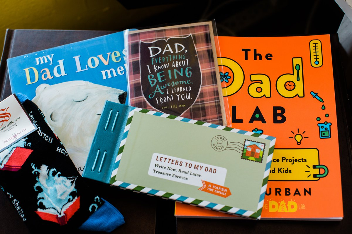 We've got your Father's Day gifts covered.  #FathersDay #thedadlab #letterstomy #novelneighbor #fathersdaygifts #beautifulmessphoto #morethanabookstore