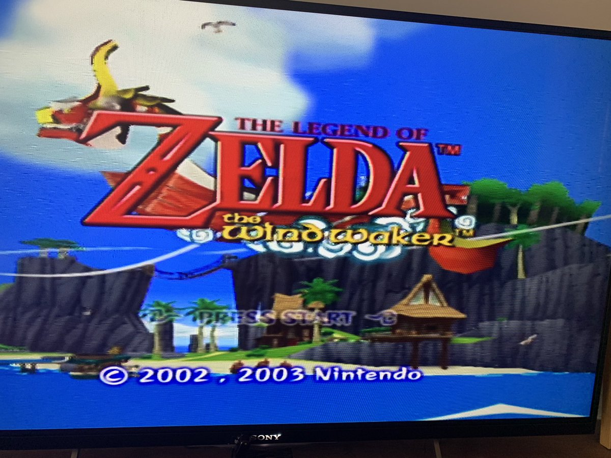 Fired up #Zelda windwaker on my #gamecube just to check it out and here hours later I'm still playing. It holds up 17 years later...<br>http://pic.twitter.com/Ehk3B3cjXe