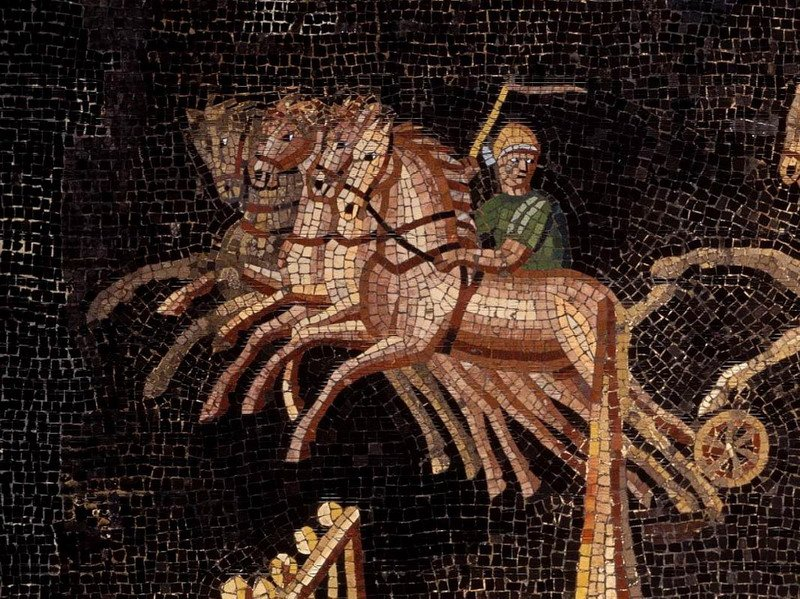 Details of the magnificent 2nd century mosaic of the CIrcus games found in Lyon, the ancient Lugdunum in 1806 <br>http://pic.twitter.com/G3JmDkI41d